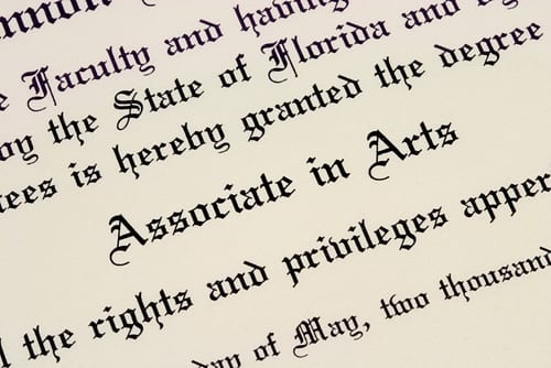 aa aas associates as degree