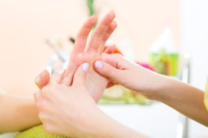 hand massage online studying
