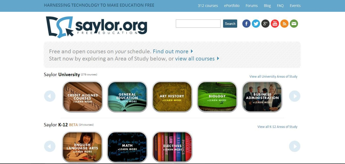 saylor- college online resources