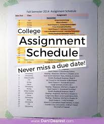 college schedule - be inspired