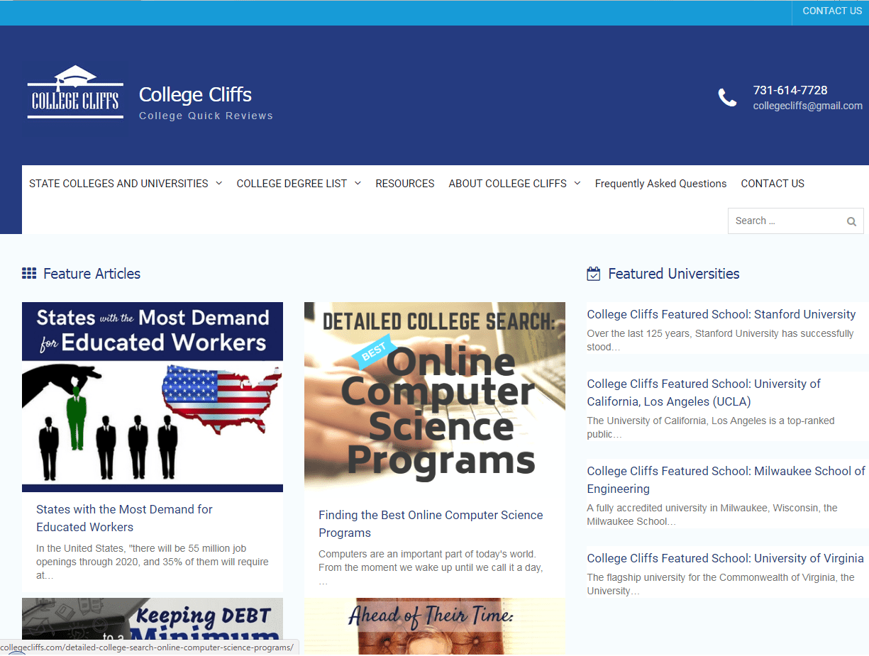 https://collegecliffs.com/ - online college resources