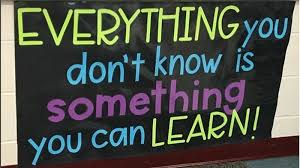 something to learn - be inspired