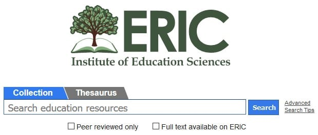 ERIC - PhD online resources