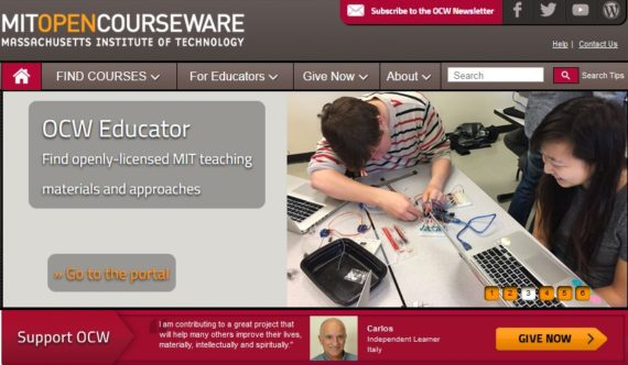 MIT Open Courseware - PhD online resources