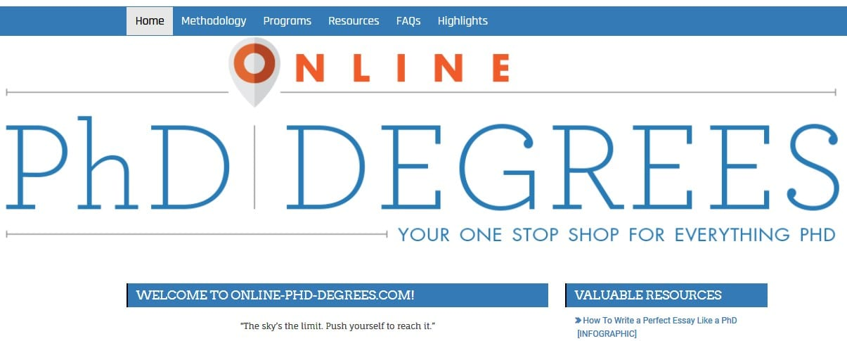 PhD online resources