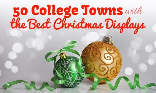 50 College Towns with the Best Christmas Displays