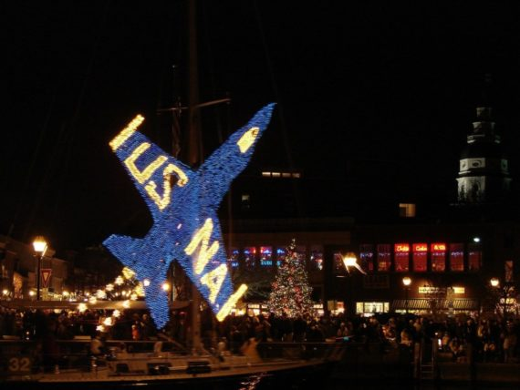 The 35th Annual Eastport Yacht Club Lights Parade features dozens of colorfully lit boats parading through Annapolis Harbor and Spa Creek. (PRNewsfoto/Visit Annapolis and Anne Arunde)