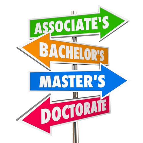 associates bachelors masters doctorates