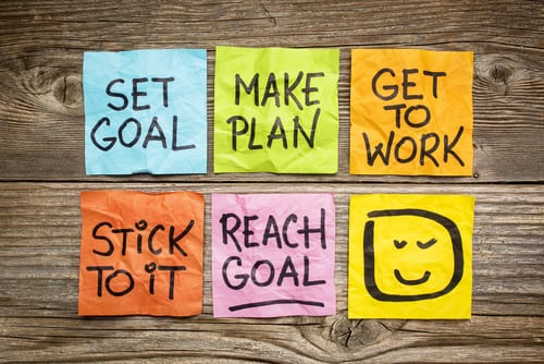 make a plan and stick to it