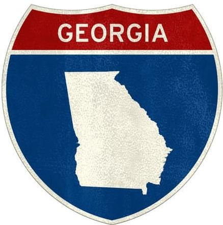 Georgia State Interstate road sign