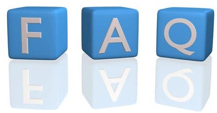 Image of FAQ on 3D cubes isolated on a white background.