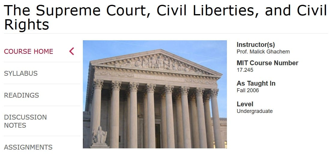 The Supreme Court, Civil Liberties and Civil Rights