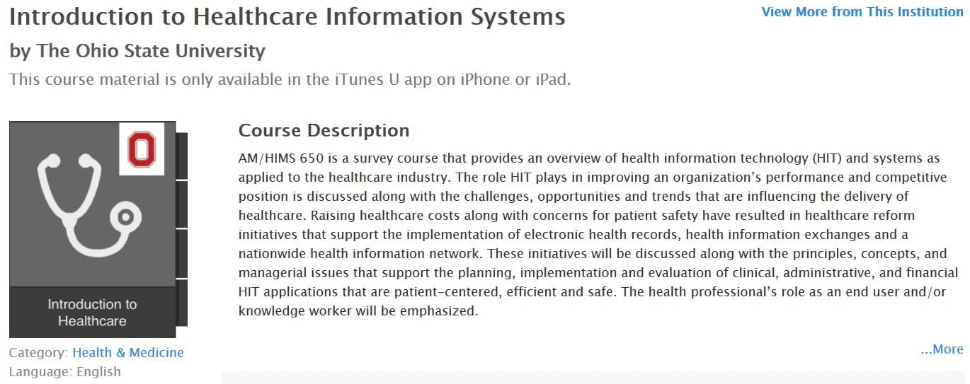 Introduction to Healthcare Information Systems HIS