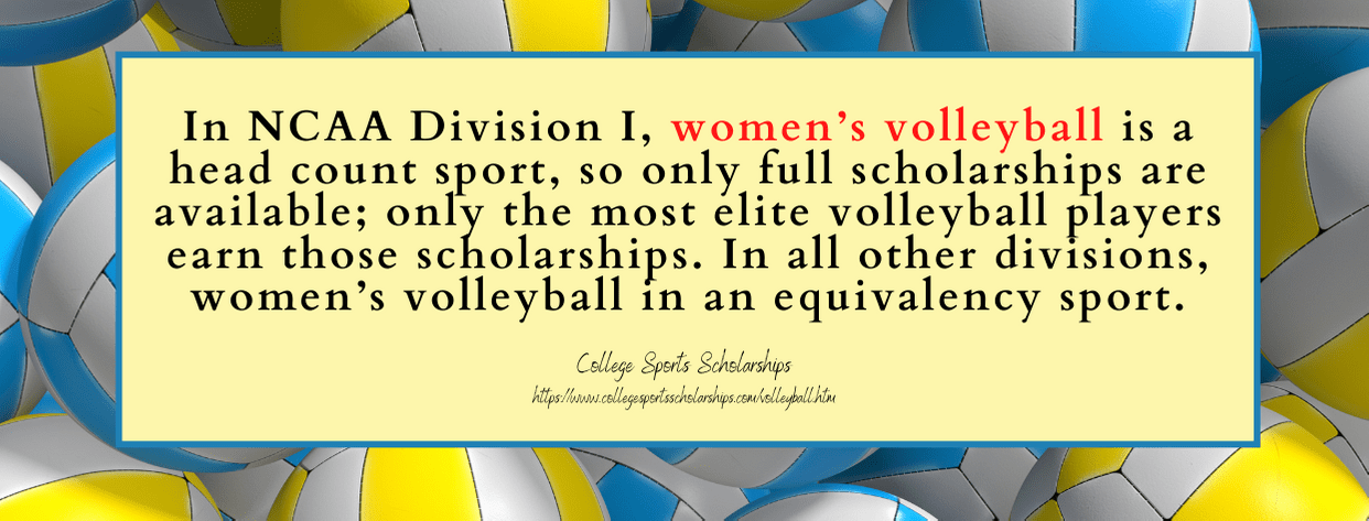 Girls Volleyball Scholarships - fact 3