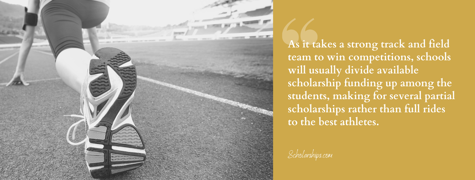 Women's Track and Field Scholarship-fact 5